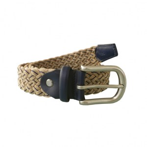 Bicoloured Belt Sand Navy