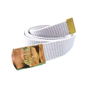 Canvas Navy Belt White13
