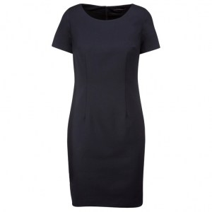 KARIBAN SHORT SLEEVED DRESS NAVY FRONT