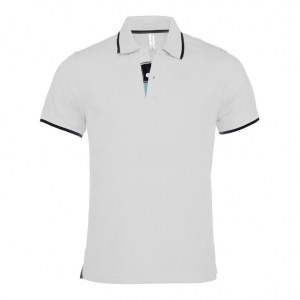 Kariban K245 Contrast Pique Polo Men White