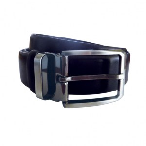 Leather Belt Mens Navy
