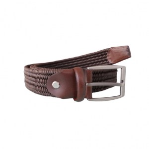 Leather Stretch Belt Brown